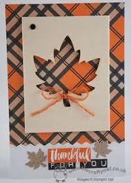 handmade fall thanksgiving card warm autumn colors quilt