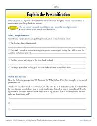 worksheets on personification worksheets