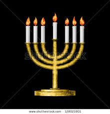 menorah 7 candles hanukkah menorah candles isolated on black stock photo 244768198