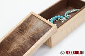 Making A Jewelry Box - how to make a simple wooden jewelry box fixthisbuildthat