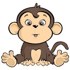 hanging monkey template cutcaster photo 100913746 cartoon waving