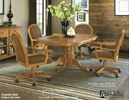 kitchen table and chairs with casters swivel dining chairs with casters impressive casual rolling caster