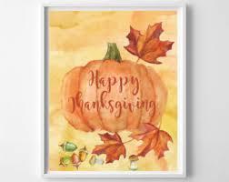 happy thanksgiving pumpkin print black and orange pumpkin