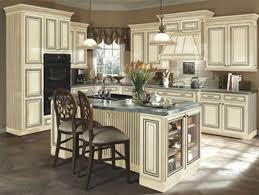 Cream Kitchen Cabinets With Glaze Painted Antique White Kitchen Cabinets To Paint Antique White