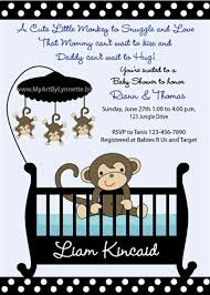 monkey baby shower invitations templates free theruntime com