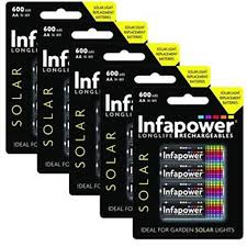 rechargeable aa batteries for solar lights infapower b008 aa 600mah solar light batteries pack of 4