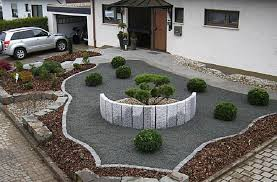 No Grass Landscaping Ideas Cheap Landscaping Ideas For Front Yard No Grass With Gravels Brown