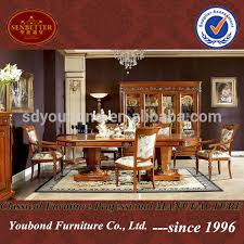 Best Quality Dining Room Furniture 0029 Italy Classic Style Functional Wooden Dining Room Set Heavy