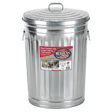 galvanized trash cans