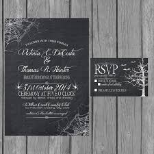 black trees for halloween halloween wedding invitation and stationary creepy elegance with