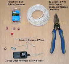 garage door garage door sensor wire broken adt wireless not