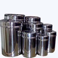 stainless steel canisters kitchen stainless steel containers mumbai parin steel id 1220656191