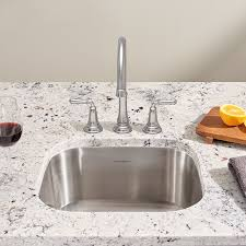 Stainless Kitchen Sink by Portsmouth Undermount 18x16 Single Bowl Kitchen Sink American