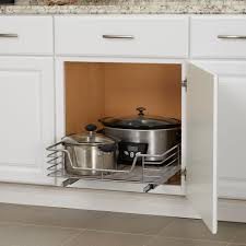 Under Cabinet Shelving by Deep 20 Inch Glidez Sliding Under Cabinet Organizer Chrome