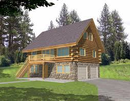 House Plans Walkout Basement Log Home Style Cabin Design Coast Mountain Homes House Plans