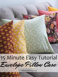home decorating sewing projects tutorial quick envelope pillow case rae gun ramblings