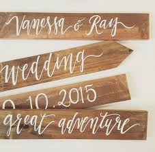 personalized wooden wedding signs personalized wedding directional signs four tier set rustic
