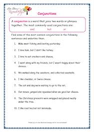 grade 3 grammar topic 19 conjunctions worksheets lets share