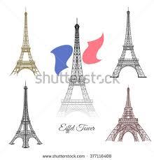 eiffel tower icon cartoon style isolated stock vector 626410619