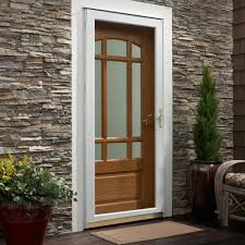 ppg storm doors u0026 pella white mid view safety retractable screen