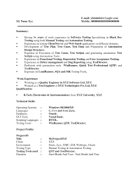 Quality Assurance Specialist Resume Sample Independent Living Specialist Sample Resume Resume Templates