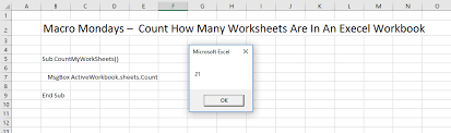 macro mondays an excel macro to count how many worksheets