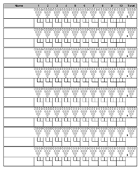 Ten Pin Bowling Sheet Template Printable Bowling Sheet With Pins
