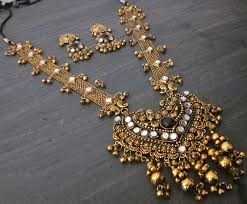 antique gold necklace images Long necklace pendant antique gold bollywood boho gypy festival jpg