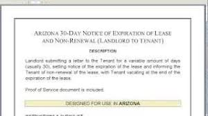 notice of expiration of lease and non renewal by landlord youtube