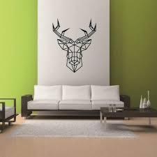 deer head home decor aliexpress com buy home decor cartoon geometric deer head morden