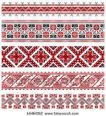 clipart of ukrainian embroidery ornament k5464352 search clip