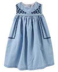 embroidered chambray dress oshkosh com