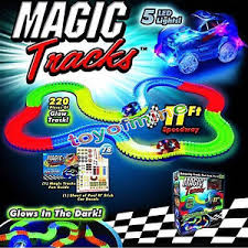 as seen on tv light up track magic tracks glow in the dark led light up race car bend flex as