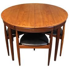 hans olsen teak roundette dining room set for frem rojle danish