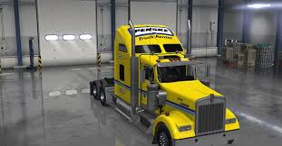 kenworth trucks usa kenworth w900 truck penske skin american truck simulator mod