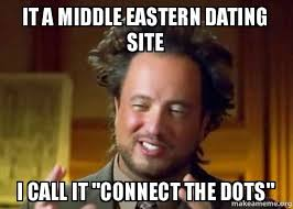 Meme Site - it a middle eastern dating site i call it connect the dots