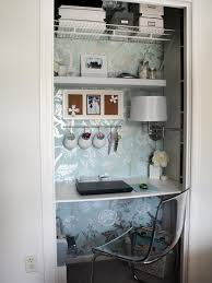 Smart Ideas For A Stylish And Organized Home Office HGTVs - Closet home office design ideas