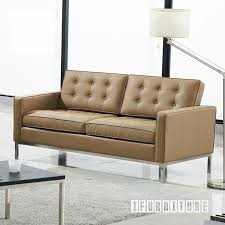 Knoll Settee Florence Knoll Sofa Replica Italian Leather Replica