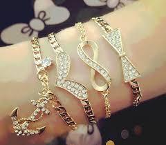 fashion bracelet designs images Gold bracelets in four new designs png