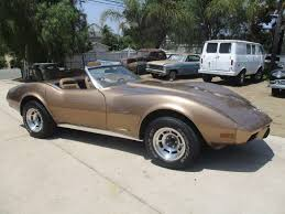 1975 corvette stingray for sale chevrolet corvette convertible 1975 gold for sale xfgiven vin
