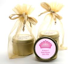 candle favors princess crown gold tin candle favors candles favors