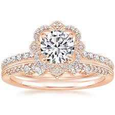 crown engagement rings images 14k rose gold reina diamond ring 1 4 ct tw with crown diamond jpg