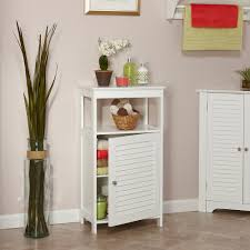 Bathroom Storage Unit White by Bathroom Cabinets Vesken Shelf White Floor Standing Bathroom