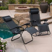 Patio Folding Chair by 2pc Zero Gravity Chairs Lounge Patio Folding Recliner Outdoor
