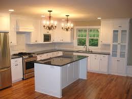 kitchen cabinet white tile countertops black and white kitchen