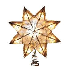 lighted capiz star tree topper best gold tree topper products on wanelo