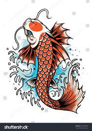 carp fish tattoo koi fish tattoo stock vector 132896906 shutterstock