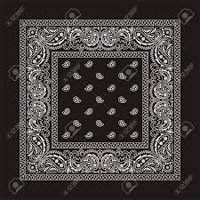 black bandana with white ornaments this is the second of the