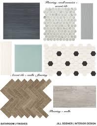 Jill Seidner Interior Design Online by Finish Materials Concepts For A Bathroom Renovation Project