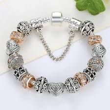 european bead charm bracelet images New design european gold color crystal beads charm bracelet for jpg